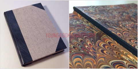 half leather binding by youngbookbinder