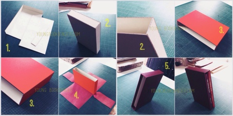 slipcase making by young bookbinder